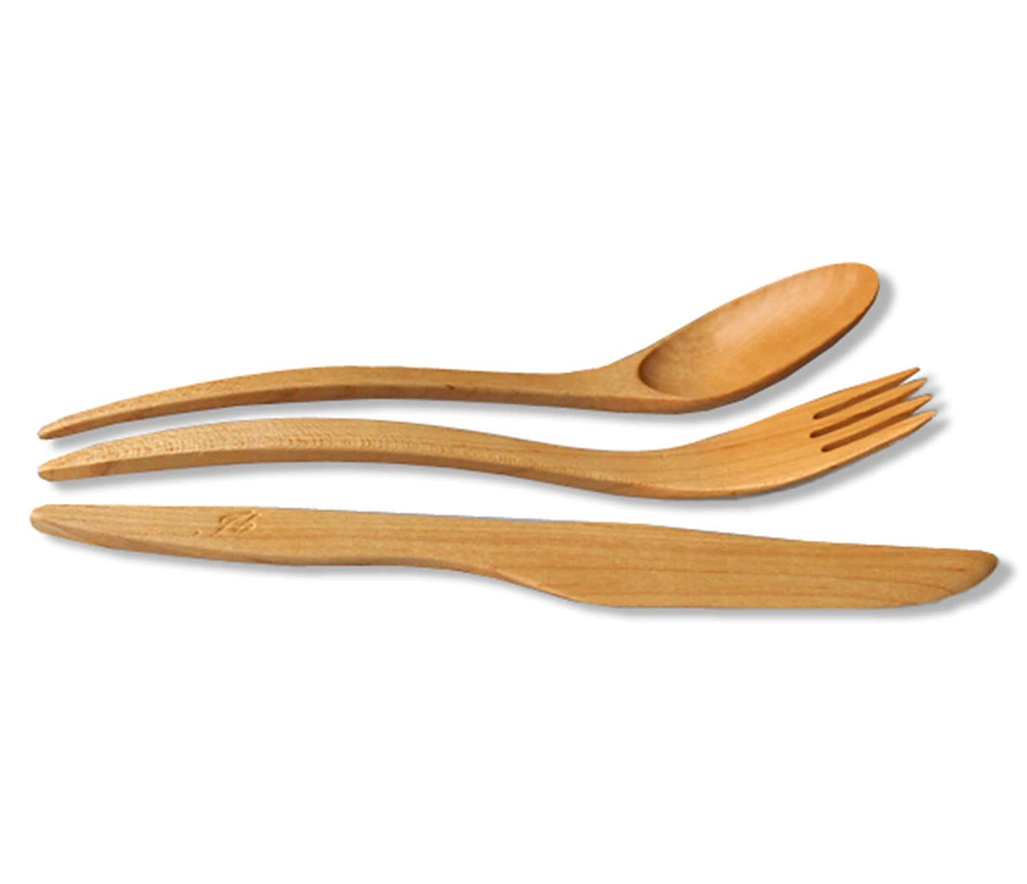 1 SET wooden utensils Maple Wood cutlery utensils of