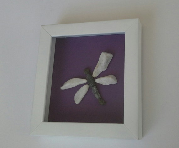 Dragonfly Home Decor Beach Pebble Artwork New Home Gift