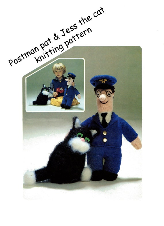 Knitting Pattern For Jess The Cat : postman pat and jess the cat toy dk knitting pattern 99p