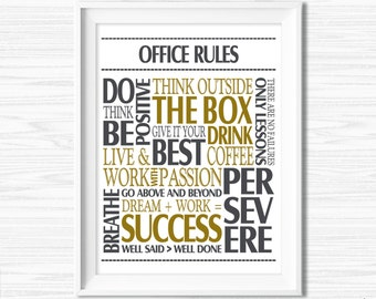Popular items for office quote on etsy for Inspirational items for office