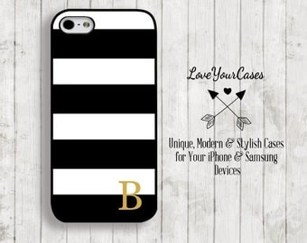iPhone 6s Case, iPhone 6 Case, iPhone 6 Plus Case, iPhone 5 Case, iPhone 5c Case, Personalized iPhone, Black White Stripes iPhone, 127