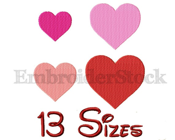 Heart machine embroidery design hearts