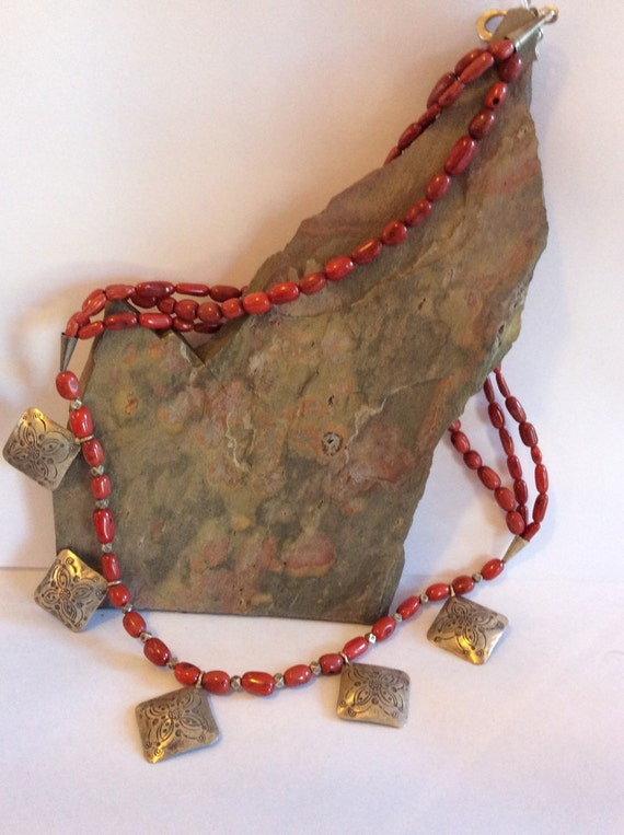 handmade in vermont handmade in vermont jewelry necklace with semi precious stones 9569