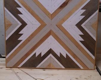Wood wall art / Geometric wall art