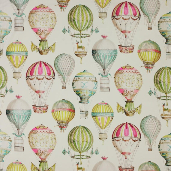 Manuel canovas hot air balloons toile by exquisitefabrics2015 - Papel pintado toile de jouy ...