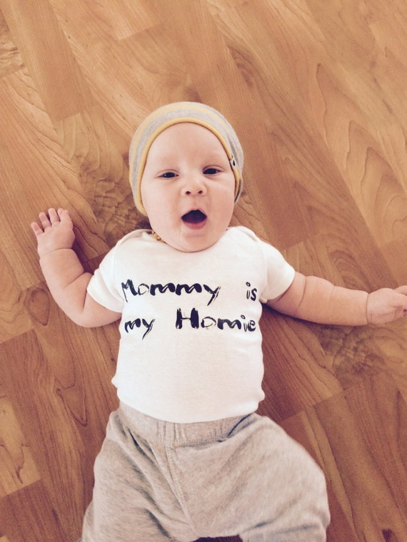 Mommy Is My Homie Bodysuit Baby Girl Clothes Baby Boy