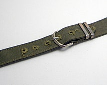 Authentic New Old Stock WWII Olive Drab Poplin Military Mens Wrist Watch Band!