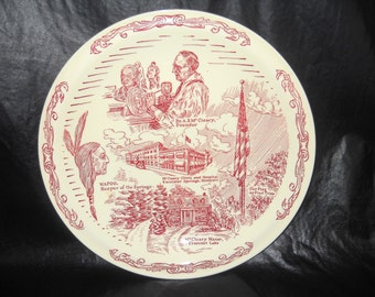 Dr. McCLEARY Excelsior Springs MO., Clinic Commemorative Plate, Vernon Kilns Plate WAPOO