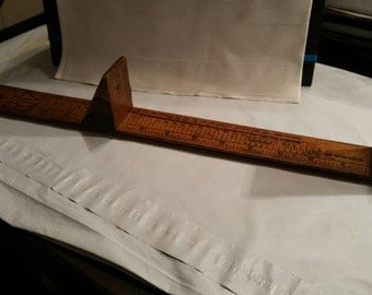 Vintage Ritz Wooden Foot Scale Shoe Measure