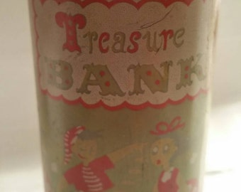 Vintage Metal Treasure Bank