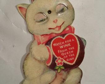 Vintage Valentine Card Watch For A Wink
