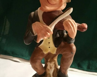 Dabs Figurine Man Playing Fiddle