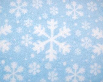 Snowflake Fleece Throw