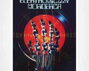 Retro Vintage Polish Terminator Poster