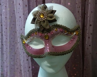 Dusty Rose Masquerade Mask