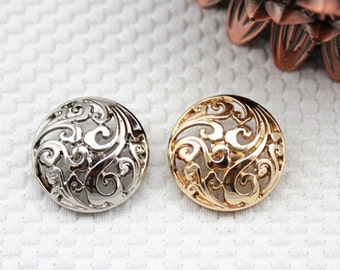 4 pcs Metal Buttons Silver Buttons 18x18mm(46-2)