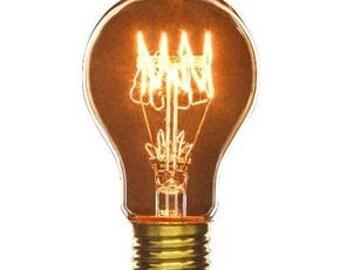Edison Light Bulb, Victorian A19 Smoke 60W E26, Industrial Lighting, Antique Light Bulb, DIY Decor, Industrial Light, Edison Bulb Lighting