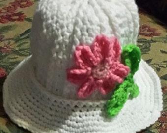 Crochet Clouche Hat with Flower