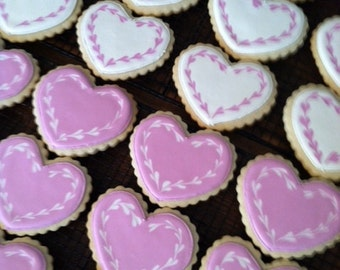 Large Heart Cookies - 1 Dozen