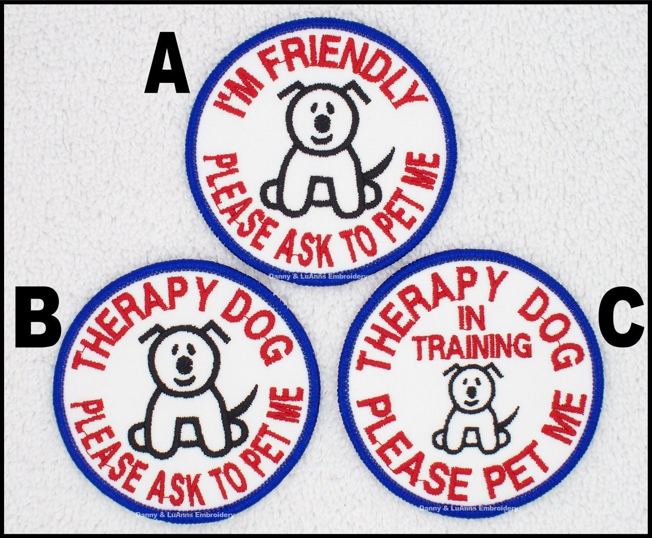 Dog Vest Patches Pet Therapy Dog Patch in