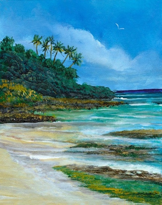 Doris Duke's @ Cromwell's Beach, 5 x 7 Greeting Card by Bobbie Kennedy