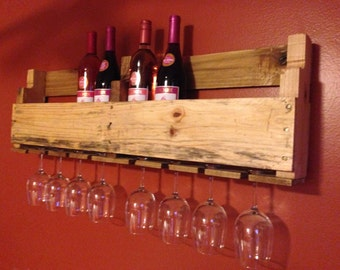 Handcrafted Pallet Wine Rack