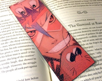 Gurren Lagann, Bookmarks, Laminated, Colored Pencil, Illustrations