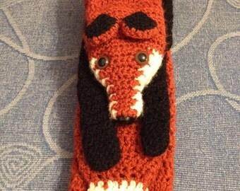 Hand Crocheted fox scarf / stole
