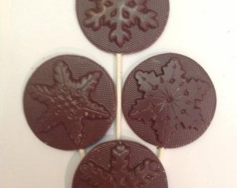 12 Chocolate snowflake pops