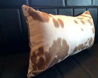 Brown Cowhide Print Lumbar Pillow Cover