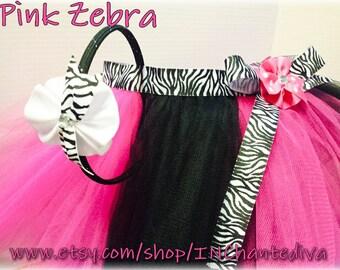 Pink & Zebra Tutu