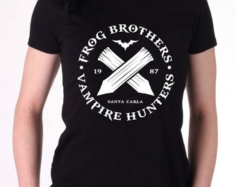 The Lost Boys - Frog Brothers Bros - Vampire Hunters - Women's T-Shirt - 80s Retro Cult Classic Tee