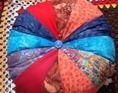 "Handmade Batik  Sprocket Cushions 16"" in diameter"