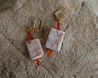 Canyon Marble Drop Earrings