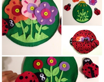 Lady bug-finger puppets educational game/activity
