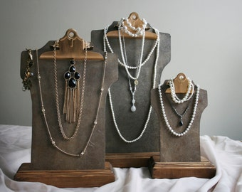 Your Choice Clipboard Necklace Bust Display - Large, Medium, Small - Retail Jewelry Display