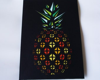 A6 Hand-Cut Pineapple Greetings Card