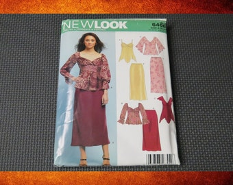 BIG SALE New Look Woman's 6406 Blouse and Skirt Pattern. Large Sizes 10-22. #PAT-016