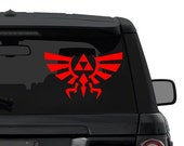 Zelda Triforce Crest of Hyrule decal sticker for car, truck, laptop CHOOSE COLOR die cut vinyl