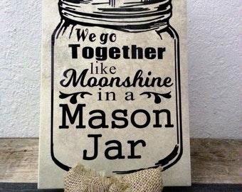 Moonshine in a Mason Jar Tile
