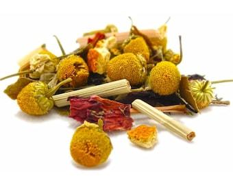 Calming Tea - loose tea - chamomile citrus mint tea - herbal tea - caffeine free - relax tea