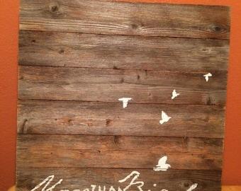 reclaimed wall art (more than Birds)