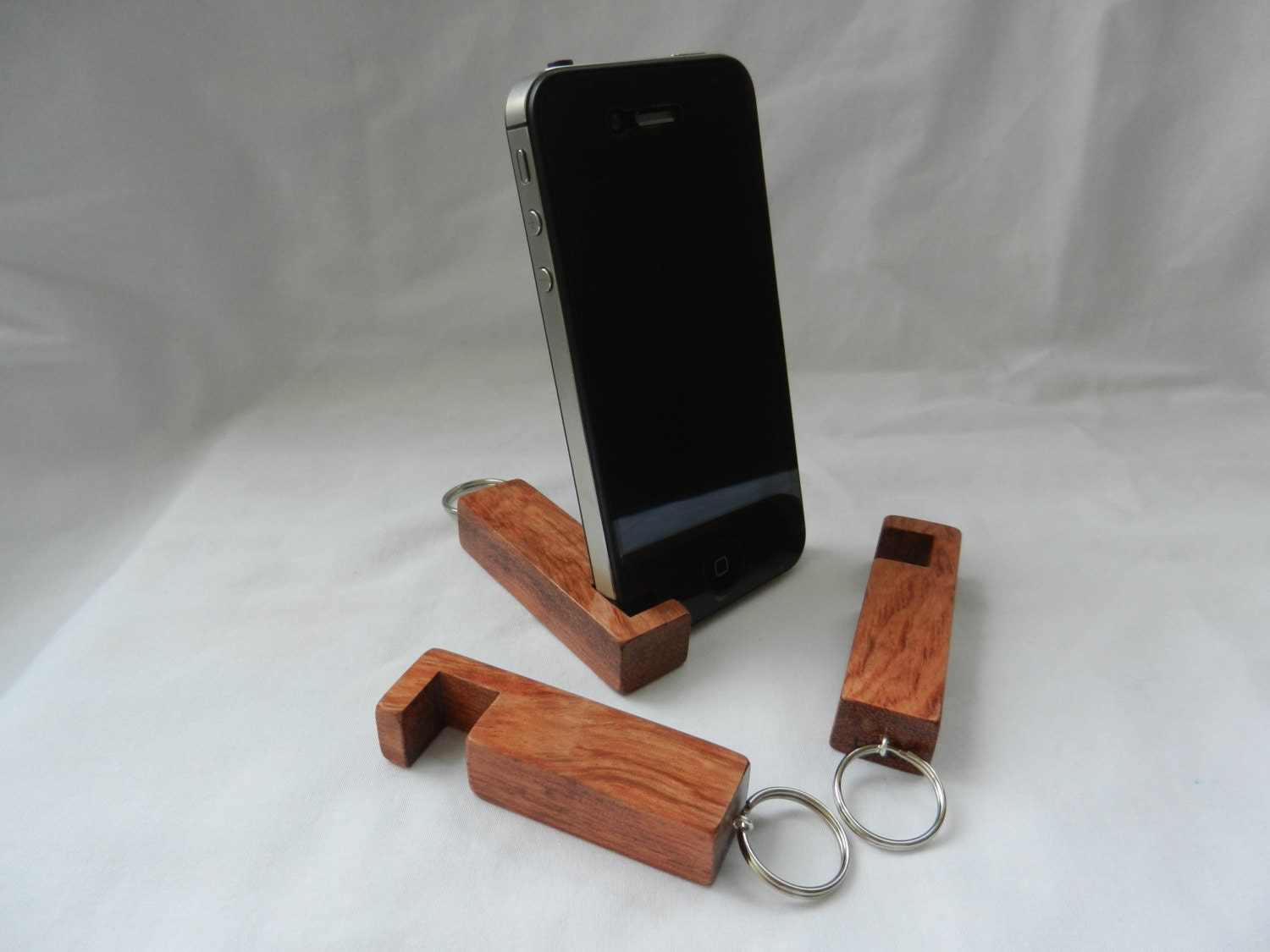 Marvelous photograph of Compact Phone Stand inotch1 in Bubinga wooden phone stand with #854931 color and 1500x1125 pixels