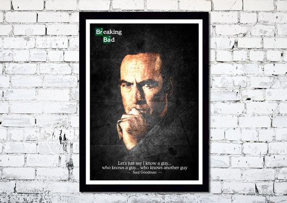 Breaking Bad // Saul Goodman // A3 poster print // Unique Art