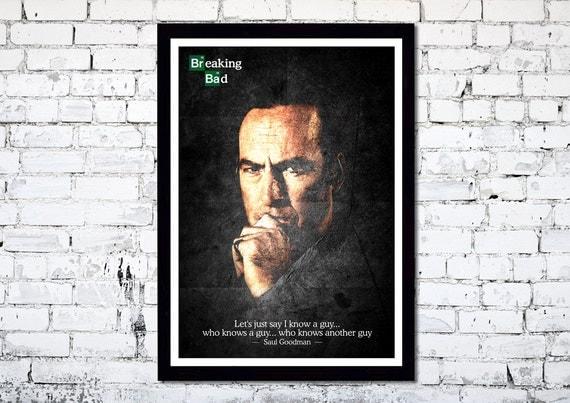 Breaking Bad // Saul Goodman // A3 poster print // Unique Art