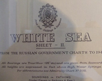White Sea - From the Russian Government Charts to 1946 - Nautical Chart