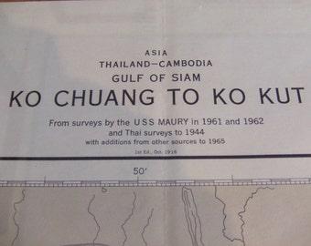 Ko Chuang to Ko Kut ~ Gulf of Siam - Thailand - Cambodia - Asia - Nautical Chart #6230