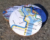 Washington DC Metro Map Cork Coasters - Set of 4
