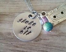 """Taylor Swift Inspired """"Shake it off"""" and """"Sick Beat"""" necklaces"""