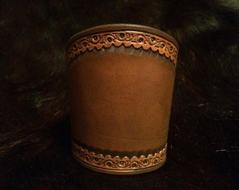 Decorative leather cuff